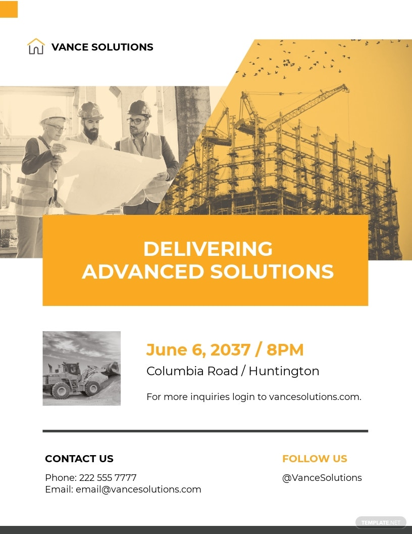 Construction and Engineering Services Flyer Template