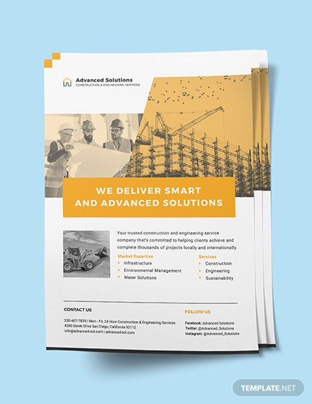 Sample Construction and Engineering Services flyer