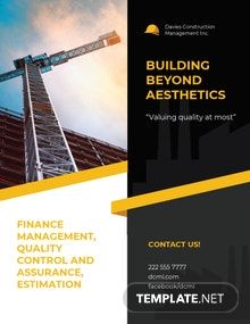 Construction Management Flyer Template