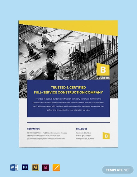 Builder flyer template