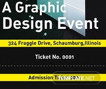 Free Event Admission Ticket Template