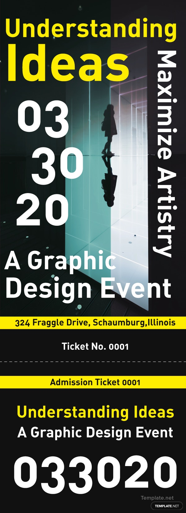 Free Event Admission Ticket Template in Adobe Photoshop, Microsoft ...