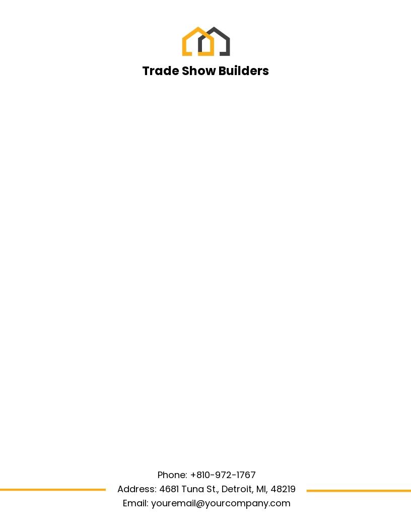 Builder's Trade Show Letterhead Template