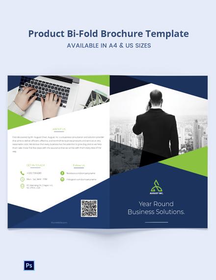 Product Promotion Bi-Fold Brochure Template