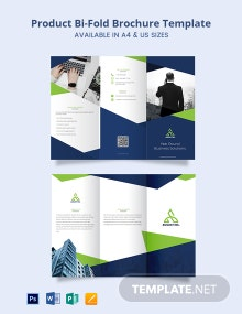 Product Promotion Tri-Fold Brochure Template