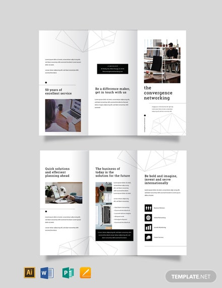 Professional Services Marketing TriFold Brochure Template