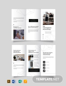 Professional Services Marketing Tri-Fold Brochure Template
