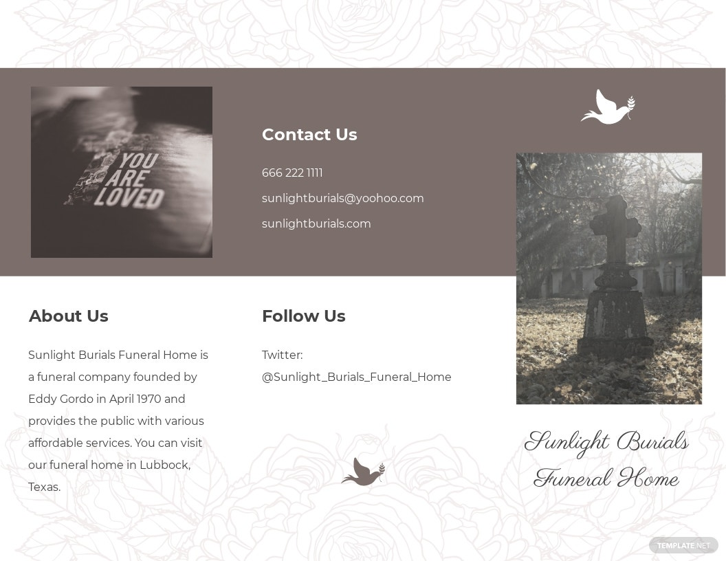 Sample Burial Funeral Tri Fold Brochure Template.jpe