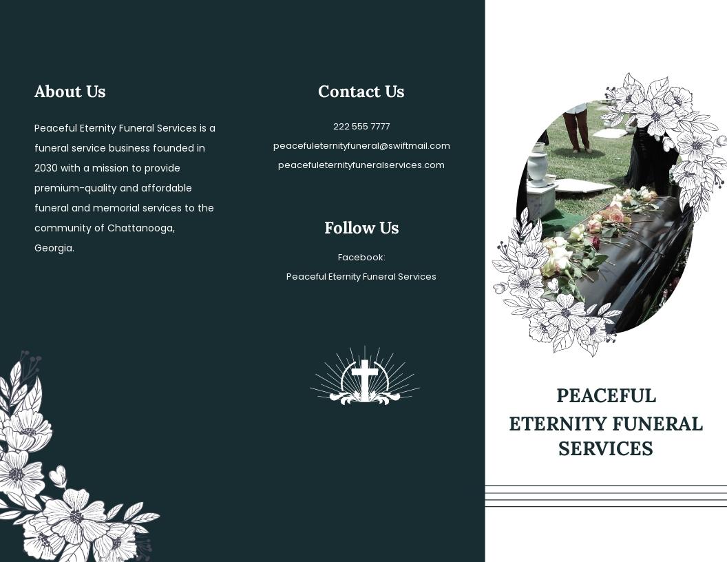 Sample Funeral Memorial Tri Fold Brochure Template.jpe