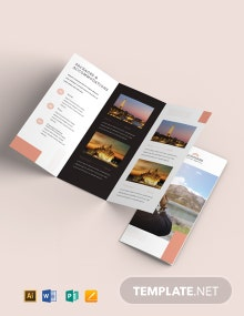 Travel Sale Tri-Fold Brochure Template