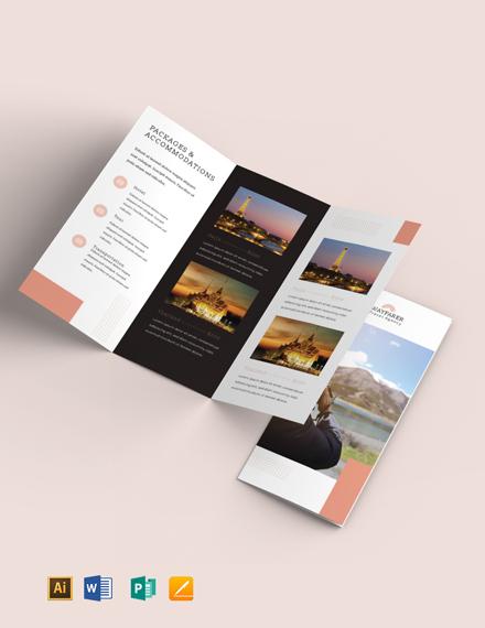 Travel Sale Tri-Fold Brochure Template
