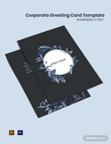 Corporate Greeting Card Template