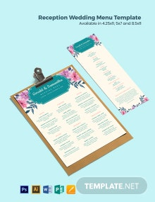 Southern Wedding Menu Template