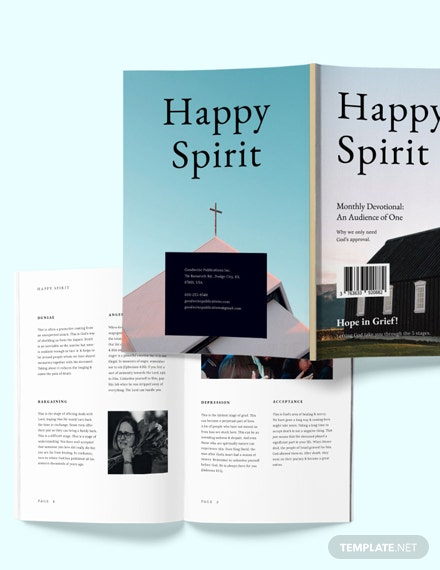 Minimal Church Template [Free Publisher] - InDesign, Word, Apple Pages