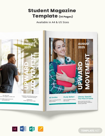 Student Magazine Template