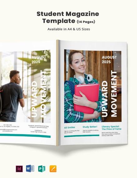 Student Magazine Template