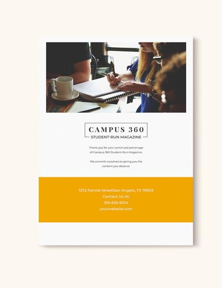 Sample Student News Magazine