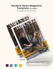 Student News Magazine Template