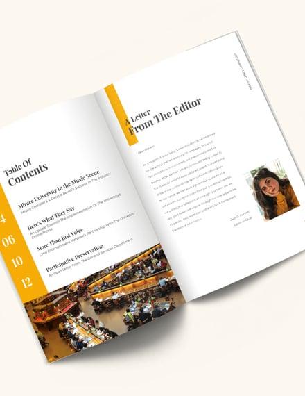 Student News Magazine Template