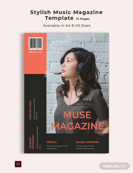 Stylish Music Magazine Template