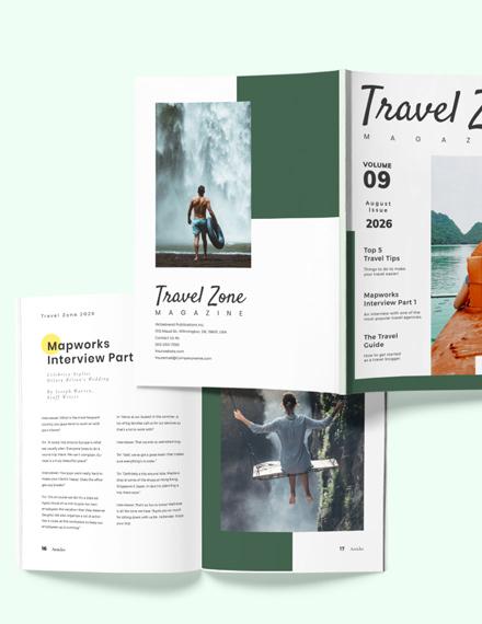 Sample Travel Advertising Magazine