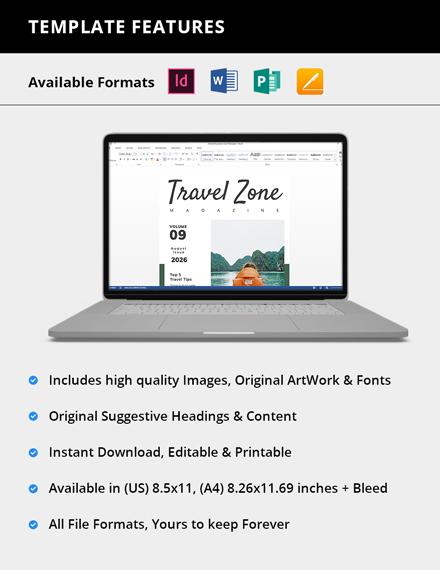 Simple Travel Advertising Magazine
