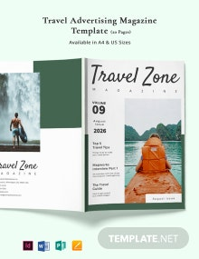 Travel Advertising Magazine Template