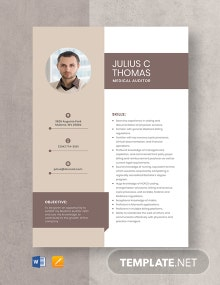 Medical Auditor Resume Template