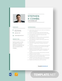 Free EAP Counselor Resume Template