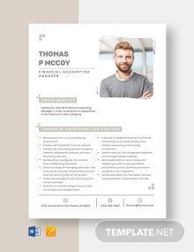 Financial Accounting Manager Resume Template