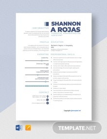 Free Financial Administrative Assistant Resume Template