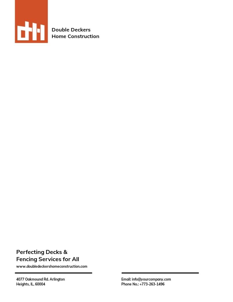 Decks & Fencing Letterhead Template