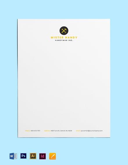 Handyman Services Letterhead Template