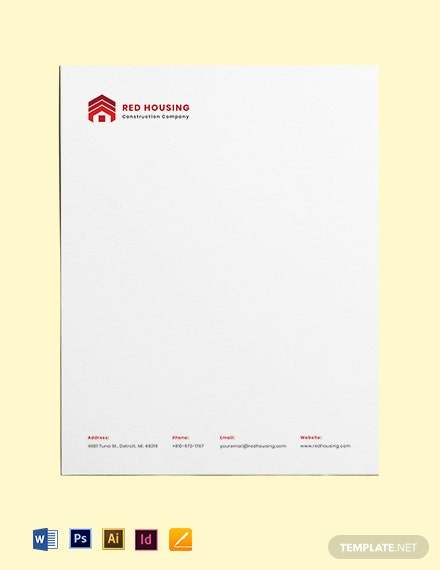 Free Professional Construction Letterhead Template