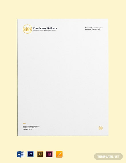 Construction Business Letterhead Template