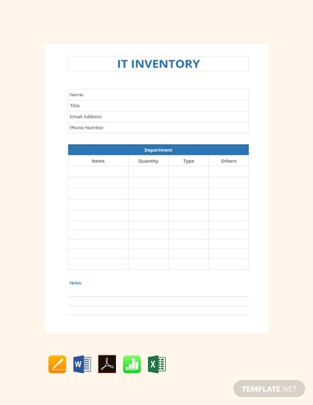 Free IT Inventory Template