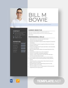 Graduate Research Assistant Resume Template