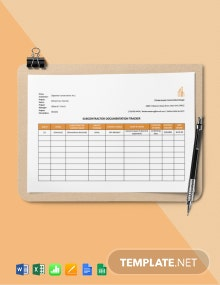 Subcontractor Documentation Tracker Template