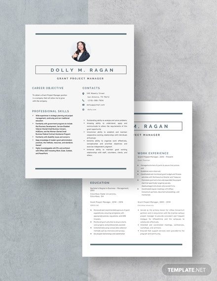 Grant Project Manager Resume Download