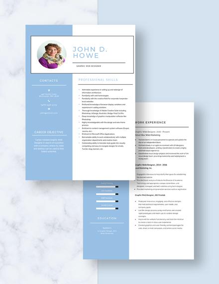 Graphic Web Designer Resume Download