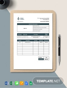 Construction Job Invoice Template