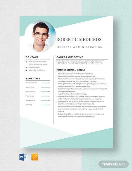 Medical Administration Resume Template