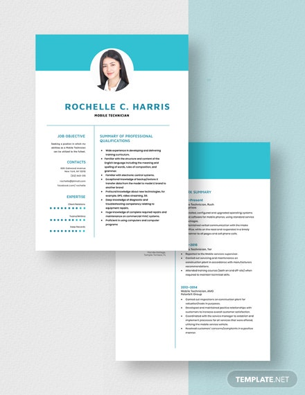 Mobile Technician Resume Download