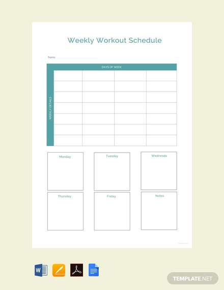 FreeSampleWorkoutScheduleTemplate