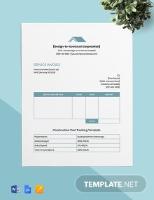 Contractor Job Invoice Template
