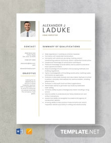 Home Inspector Resume Template