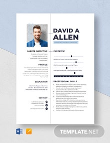 Financial Project Manager Resume Template