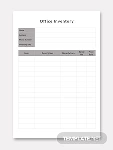 Office Inventory Template