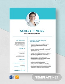 Medical Records Director Resume Template