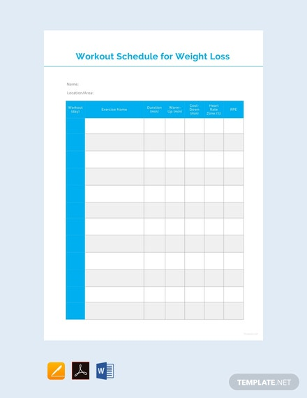 free workout schedule for weight loss template 440x570 1